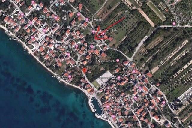 Land, 1008 m2, For Sale, Zadar - Diklo