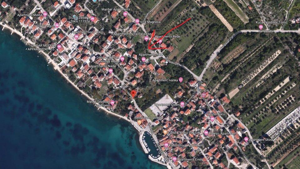 Odlično građevinsko zemljište u Diklu, Zadar!
