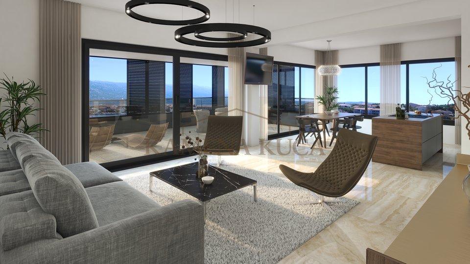 Exklusive Apartments in Vinjerac, bei Zadar. Erste Reihe zum Meer
